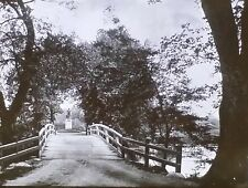 """""""The Rude Bridge that Arched the Flood"""", Magic Lantern Glass Slide, from Photo"""