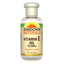 NEW SUNDOWN NATURALS VITAMIN E OIL MOISTURIZES DRY SKIN FINE LINES WRINKLES CARE