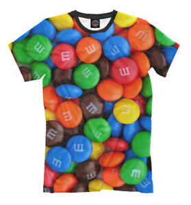 M&M'S t-shirt candysall over print multicolor colorful image
