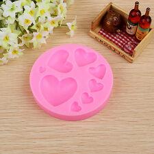 3D  Herz-Fondant-Form-Silicone-Kuchen Dekorieren Craft Zucker Schokoladen-Form