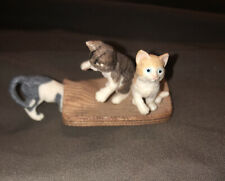 Schleich Kittens Playing Rug Cat Domestic Animal Figure Kitty 2010 Retired