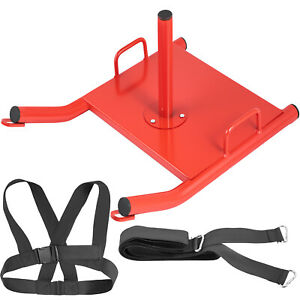 Power Speed Sled Push/Pull Weight Sled Crossfit Football Training HD w/Harness