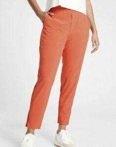 ATHLETA Brooklyn Ankle Lightweight Travel Pant Orange OGHZ Women Size 6P  NWT