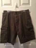 Nautica Men's 34 Green Khaki Cargo Shorts