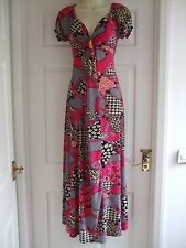 fits size 10 womens maxi dress short sleeve Ladies Summer Winter Evening Party
