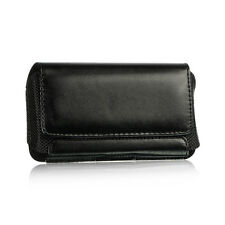 Black Premium Horizontal Leather Case Pouch Holster for HTC HD2 / Nexus