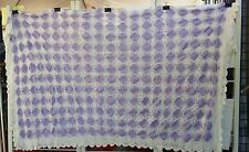 """PURPLE WHITE CROCHET PATCHWORK 104""""X84"""" RECTANGLE TABLECLOTH FREE SHIPPING"""