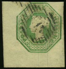 Sg 54 1/- Pale Green. A very fine used corner marginal example