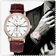 GENEVA PLATINUM GOLD TONE LUXURY CASUAL MENS WATCH AT YOUR HOME IN 3-5 DAYS FREE