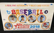 2018 Topps Heritage Baseball MLB Hobby Edition Factory Sealed Box