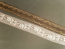 Beautiful  Non Stretch Lace Trim with a vintage appearance - Ideal for crafts