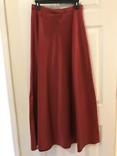 Michaelangelo Women's Red Formal Party Evening A-Line Long Flare Skirt Size  8