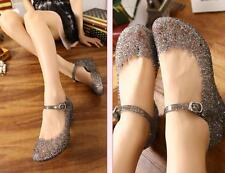 Womens Fashion Wedge Sequin Buckle Jelly Sandals Summer Girls Nest Style Shoes