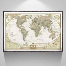Large World Map Antique Poster 28x18inch