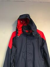VTG 90s The North Face Extreme Navy Red Colorblock Hooded Windbreaker M Gore-Tex