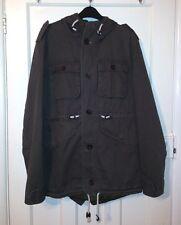 New Look Khaki Hooded Jacket - Size S