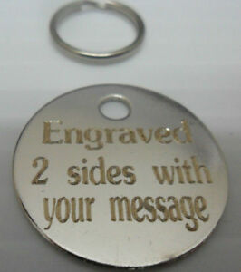 BRASS/NICKEL ENGRAVED DOG/CAT ID NAME TAG DISC PERSONALISED PET IDENTITY TAGS
