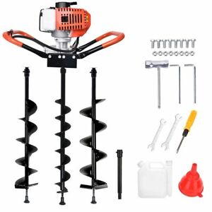 """52CC 2.5HP Gas Powered Post Hole Digger 4"""" 6"""" 8"""" 10"""" Earth Auger Digging Engine"""