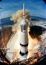 Space Poster - Apollo 11 - Launch - Saturn V - 50th Anniv - NASA - A4 Wall Art