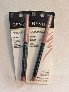 2 TWO Carded Revlon Colorstay Lipliner 685 Natural