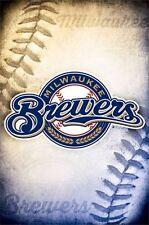 MILWAUKEE BREWERS - 2014 LOGO POSTER - 22x34 MLB BASEBALL 13251