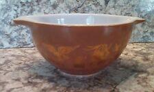 "VTG Pyrex ""Early Americana"" Brown & Gold 1- 1/2 Pint Casserole Dish #441 EUC"