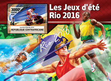 Central African Rep 2016 MNH Olympic Games Rio 1v S/S Cycling Olympics Stamps