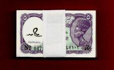 Egypt 100 bill/ 5 piaster UNC SING BY SALAH HAMED