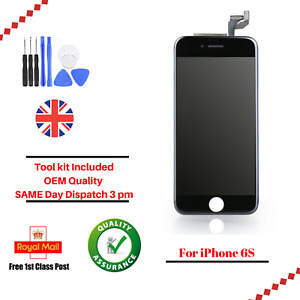 For Apple iPhone 6S Black LCD Screen And Digitizer Assembly With Frame Tool Kit