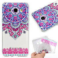 Clear Soft TPU Gel Pattern Phone Case Cover For Samsung & Huawei Mobile Phone