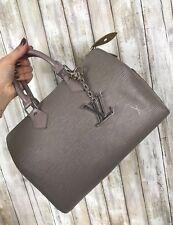 LOUIS VUITTON Lilac Gray Purple Epi Leather Speedy 25 Satchel Doctor Bag BONUS