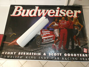 LOT OF 2 POSTERS RACING KENNY BERNSTEIN SIGNED & SCOTT GOODYEAR & TEAM PENZZOIL