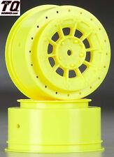 NEW JConcepts Hazard Losi SCT-E Wheel Yellow (2) 3352Y NIB  Fast ship + track#