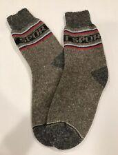 Knitted Sheep wool men's socks Thermal warm winter Sport Grey Size 9-10 Russia