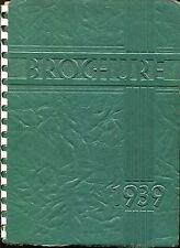 BEN BLEWETT HIGH SCHOOL. ST LOUIS, MISSOURI YEARBOOK - BROCHURE - JUNE 1939