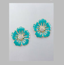 MARNI H&M Blue Flower Earrings
