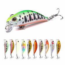 10Pcs Chatterbait Fishing Lures Crankbaits Minnow Lot Hooks Bait Bass Tackle