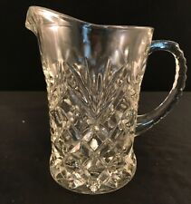 Small Pressed Glass Pitcher For Cream Milk Water