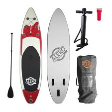 """ALEKO Inflatable Stand Up Paddle 6""""x32""""x132"""" Board 3 Fins with Carry Bag"""