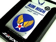 ZIPPO Chrome US AIR FORCE 70 Anniversary Arnold Wings Windproof Lighter 29180