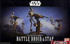 NEW - Battle Droid & Stap Star Wars Scale 1/12 Model Kit Figure Bandai Japan