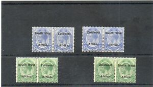 SG 1,4,16,19 SOUTH WEST AFRICA MINT PAIRS CAT £36