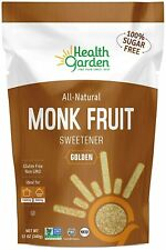 Health Garden Monk Fruit Sweetener, Golden- Non GMO - Gluten Free - Sugar Substi