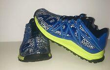 ADIDAS Big Kids Vigor Bounce Trail Runner Shoe Blue/Solar Yellow BY3446 (SIZE 5)