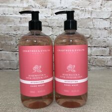 Crabtree Evelyn Rosewater Peppercorn Hydrating Hand Wash Soap Pump x 2
