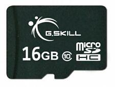 16GB G.Skill microSDHC CL10 memory card with SD adapter
