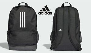Adidas Versatile 3 Stripe Tiro Black Backpack Gym School Training Bag