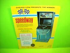 Chicago Coin Speedway Original 1969 Vintage Arcade Game Flyer Race Car Driving