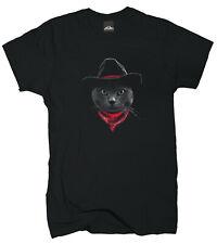Wolkenbruch® T-Shirt Cowboy Katze Cat Gr.M bis XXXXXL