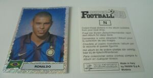 Panini Super Football 99 sticker RONALDO Brazil Inter Sticker N RARE